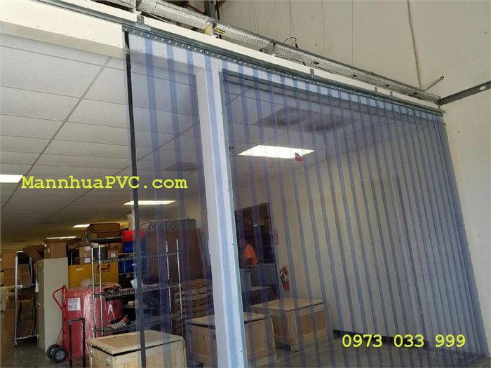 Rèm nhựa PVC kéo xếp